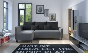 Mirjan24 Ecksofa Brest, L-Form Polsterecke, Eckcouch mit Bettkasten und Schlaffunktion, Stilvoll Wohnzimmer (Farbe: Mikrofaza 0027 + Mikrofaza 0015)