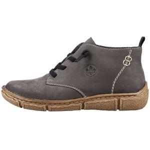 Rieker Damen Stiefeletten Schnürung Leder L3711, Größe:42 EU, Farbe:Grau