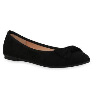 Giralin Damen Klassische Ballerinas Schuhe 836339, Farbe: Schwarz, Größe: 40