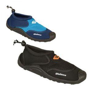 Waimea Aquaschuhe Wasserschuhe Badeschuhe Wave Rider Schwarz Schuhe, Größe:46