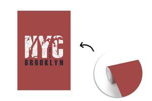 Tapeten - Fototapete - New York - NYC - Plattegrond - 180x280 cm - Vinyl