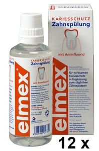 Elmex Kariesschutz Zahnspülung 12er Pack 4800ml