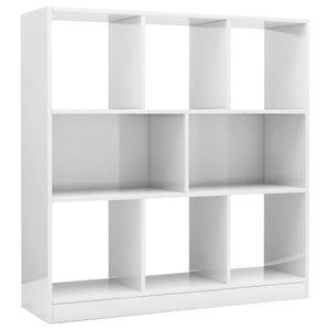 vidaXL Bücherregal Hochglanz-Weiß 97,5×29,5×100 cm Spanplatte