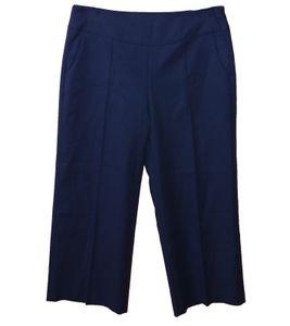 windsor. Marlene-Hose elegante Damen Ausgeh-Hose mit seitlichen Eingrifftaschen Marine, Größe:44