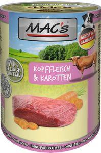 6x400g MAC's Kopffleisch & Karotten Hunde Nassfutter
