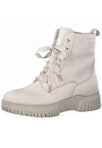 Tamaris Damen Sportliche Stiefelette Pure Relax 1-25239-27 Weiß 438 Ivory Nubuck Leder mit Leather Sock, Groesse:40 EU