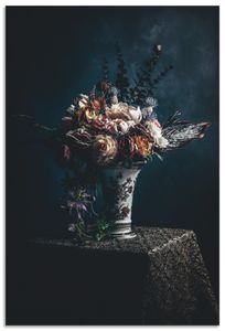 ARTland Alubilder Kunstblumen Stillleben Alubild Größe: 20x30 cm