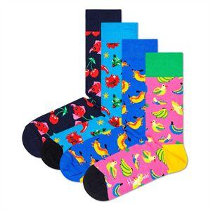 Happy Socks 4er Pack Uni Socken - Geschenkbox, gemischte Farben Surreal Animals 36-40