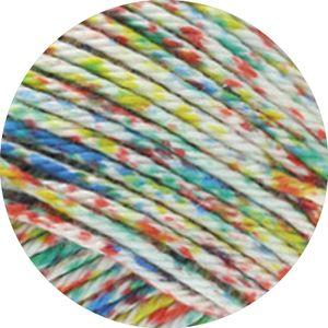 Lana Grossa - Cotone Spray 0460 rot/grün/blau
