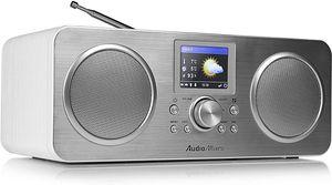 AudioAffairs Portables Internetradio, Akku, Bluetooth, DAB, Digitalradio mit Wecker, WLAN Küchenradio, UKW-Tuner, Uhrenradio
