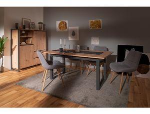 Esszimmer Devin 150 Artisan Eiche + Stuhl Thea Stoff grau Ausziehtisch, Anzahl Stühle:mit 8 Stühlen