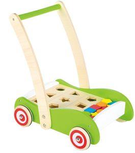 push/Pull-Wagen Formen Junior Holz grün 3-teilig