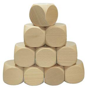 Blanko Holzwürfel 60mm, 10 Stück - Gebetswürfel Blanko-Würfel Holz unbedruckt