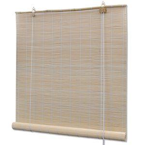 vidaXL Naturfarbenes Bambusrollo 80 x 160 cm