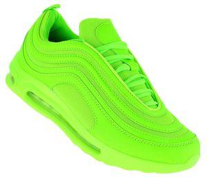 Art 424 Neon Turnschuhe Schuhe Sneaker Sportschuhe Luftpolstersohle Herren, Schuhgröße:43
