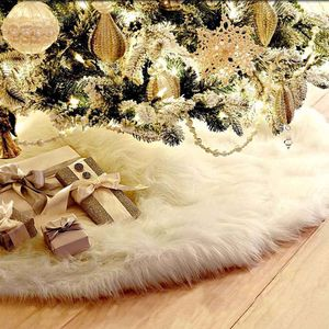 Reinweißer Weihnachtsbaum Plüschbaum Rock Weihnachtsbaum Rock Weihnachtsbaumdekoration 78cm