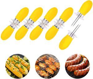 10 Stück/5 Paar Maiskolbenhalter Edelstahl Gabelspieße für Maiskolben Grillwerkzeuge