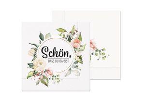 LaVida Servietten für Dich 20 Stück Schön, dass Du da bist (Blumen)