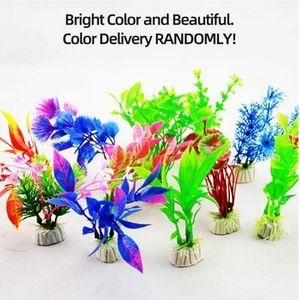 Künstliche Aquarienpflanzen Aquarium Dekorationen Kunststoff Aquarium Pflanzen 10 STÜCKE[Mehrfarbig]