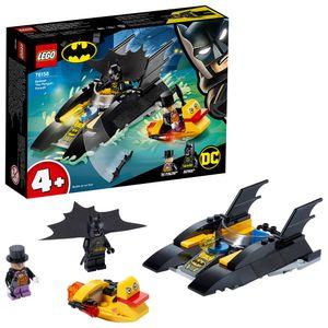 LEGO 76158 Super Heroes DC Batman 4+ Verfolgung des Pinguins – mit dem Batboa, Spielzeugboot für Kinder