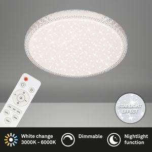 LED Deckenleuchte Sternendekor Kristallen dimmbar 24W Ø39,3cm Briloner Leuchten