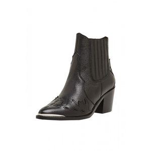 Aus Leder: verzierte Cowboy-Boots