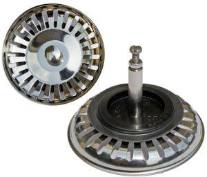 PROKIRA® Universal Siebkörbchen 3,5 Zoll (Ø80mm), für Spülen mit Excenterbedienung / Edelstahl