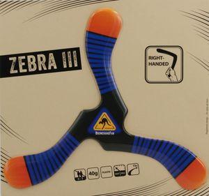 Boomerang le ZEBRA III - 40 gr - Dreiflügler Bumerang, Typ:Rechtshänder