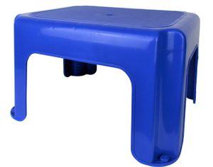 Kinderhocker / Kindertritthocker / Kindertrittschemel - Hocker / Tritt / Schemel für Kinder aus Kunststoff (Farbe: Blau)