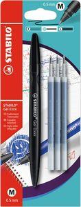 Radierbarer Gel-Roller - STABILO Gel Exxx - Einzelstift - schwarz - inklusive 3er Refill