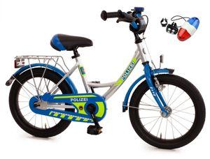 Bachtenkirch 16 Zoll Kinderfahrrad Polizei mit LED Blaulicht & Sirene (432-PZ-40/3252)