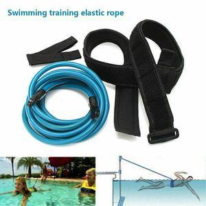 Miixia Schwimmtrainer Gürtel Schwimmwiderstand Tether Pool Schwimmtrainingshilfegurt Größe 6mm*9mm*4m Blau