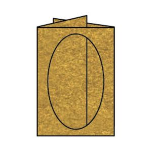 Rössler Papier - - Paperado-Karte Ft.B6 PP-oval, Gold - Liefermenge: 25 Stück