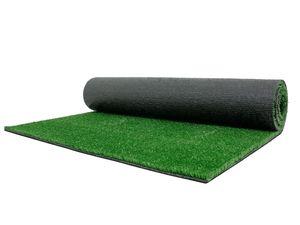 Kunstrasen Rasenteppich Meterware SPRING - 2,00m x 1,50m, Grün, Wasserdurchlässiger Outdoor Bodenbelag für Balkon und Terrasse