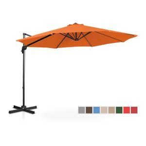 Uniprodo Ampelschirm - orange - rund - Ø 300 cm - drehbar