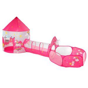 3in1 Einhorn Spielzelt + Tunnel + Tasche Kinderzelt Bällebad Spielhaus Babyzelt Gaming House