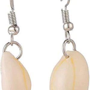 Mllaid Natürliche Muschel-Metall-Ohrringe, Muschel-Ohrringe, Silber-Ohrringe, Mode-Ohrringe