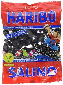 Haribo Salino salzig würzige Lakritz Rauten aus köstlichem Salmiak 200g