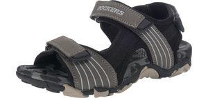 Dockers by Gerli Uni-Kinder Outdoor Schuhe Sandalen Trekking Grau, Größe:D/F 38, Farbe:Grau