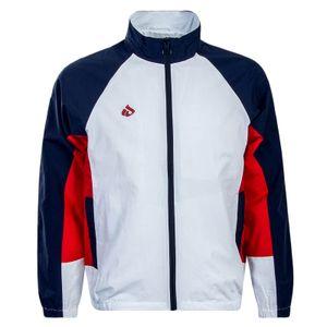 Herren Trainingsjacke Track White Blue Red