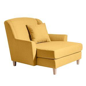 Max Winzer Judith Big-Sessel inkl. 1x Zierkissen 55x55cm - Farbe: gelb - Maße: 136 cm x 142 cm x 107 cm; 2891-767-1645254-F01