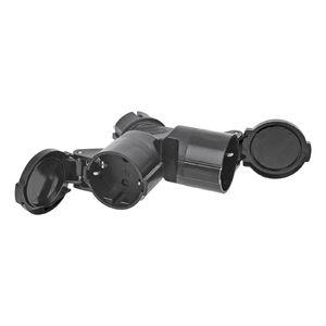 ProPlus Schuko Duo Splitter 16A schwarz