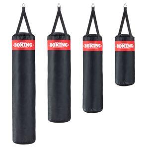 SOGO Sport robuster Boxsack gefüllt, Sandsack, Punching Bag, Boxen, MMA, Kickboxen, Karate, Fitness exklusiv, mit Metalldreieck zum Aufhängen, Größe:XXXL (140x35cm/30kg)