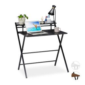 relaxdays Schreibtisch klappbar mit Ablage