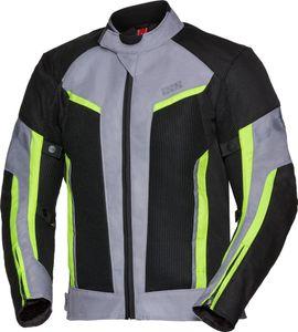 IXS Sport Ashton-Air Motorrad Textiljacke Farbe: Schwarz/Grau/Neon, Grösse: 3XL
