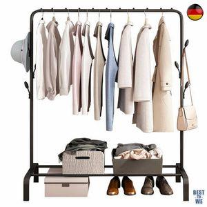 Kleiderständer Wäscheständer Garderobenständer Kleiderstange Abnehmbar Äste, 150X110CM,Metall Garderobenständer ,einfache Montage, schwarz,Flur Diele  Schlafzimmer Wartezimmer