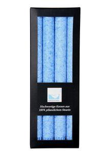 4 Stabkerzen Ø 2,2cm 25cm blau