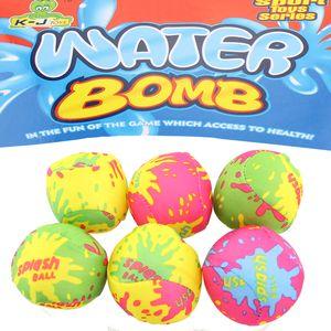 Wasserbomben Wasserball Set 6tlg Spielball Ball ca.5cm Splash Strandball Beachball