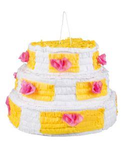 Boland piñata-Geburtstagskuchen 40 x 28 cm Papier weiss/gelb