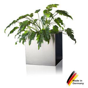 Pflanzkübel CUBO 60 Edelstahl Blumenkübel, 60x60x60 cm (L/B/H), Farbe: silber gebürstet